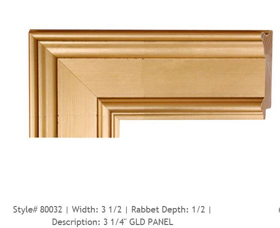 Plein aire gold ready made picture frame in Long Island, New York