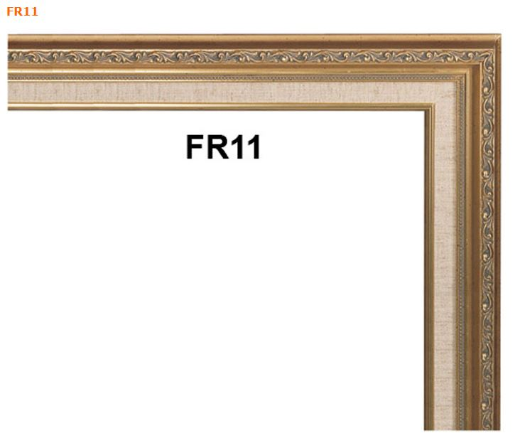 FR11 READY MADE GOLD PICTURE FRAME WITH LINEN