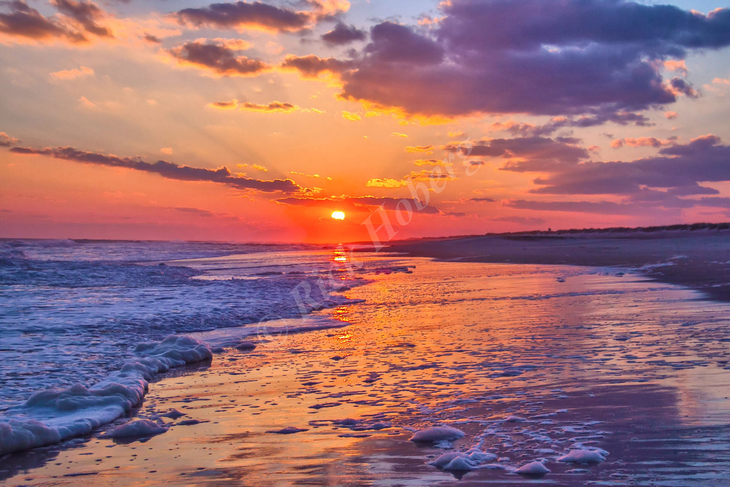 Peaceful Sunset Canvas Giclee Print By Rick Hoberg