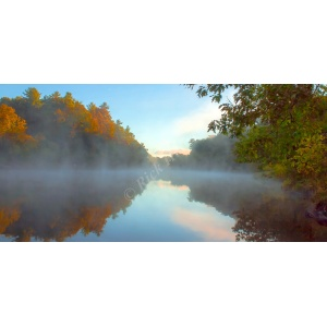 Foggy Water Canvas Print