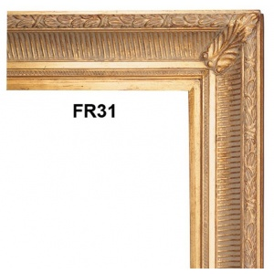 FR31 ANTIQUE FLUTED GOLD