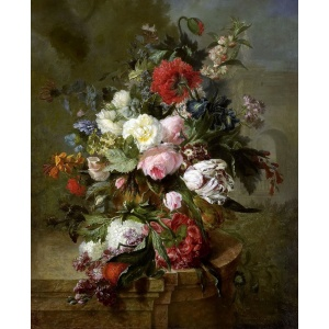 Antique Floral Canvas Print