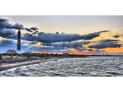 Lighthouse Sunset in HDR Fire Island