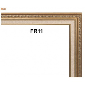 Gold Picture Frame with Linen Liner