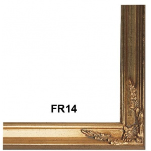 FR14 Antique Gold Picture Frame with Compo