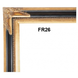 FR26 BLACK AND GOLD PICTURE FRAME